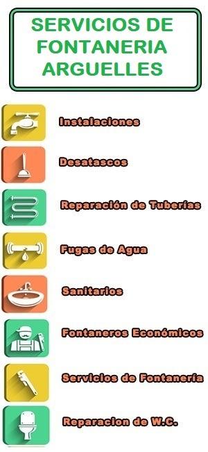 servicios de fontaneria en Arguelles