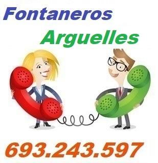 Telefono de la empresa fontaneros Arguelles